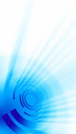 fx: Modern cyberspace banner blue white