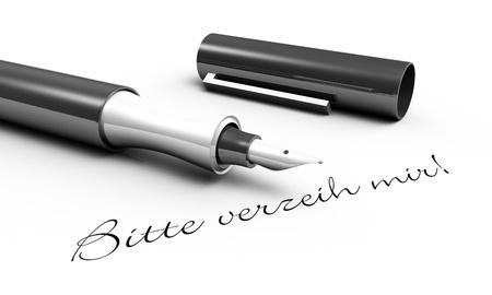 Please forgive me - pen concept photo