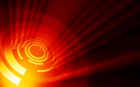 fx: Hot Fire Energy Background Stock Photo