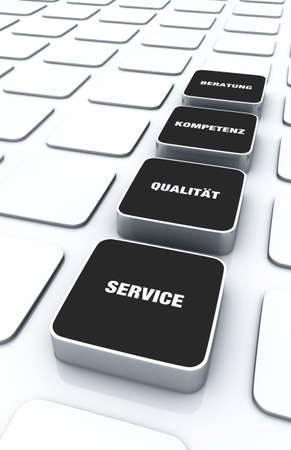 customercare: Black cube concept - a quality service consulting expertise Stock Photo