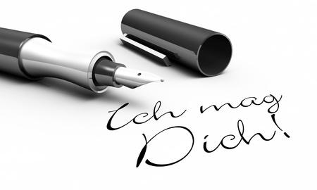 i love u: I like you - pen concept Stock Photo