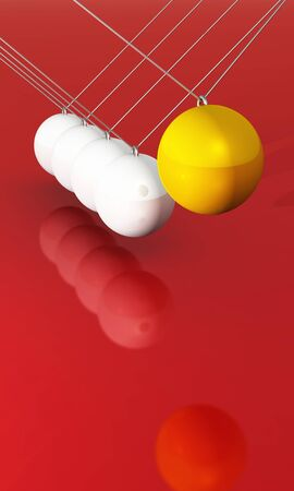 Motion in Business - yellow white on red 2 Stock Photo - 14912968