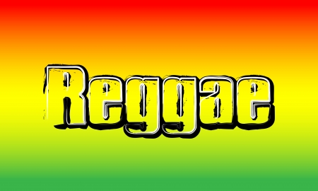 rasta colors: Red Yellow Green - Reggae Party Background Stock Photo