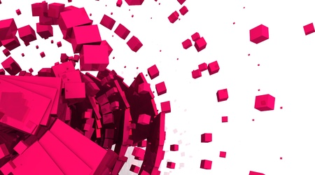 bytes: Cyberspace Background - Pink blox