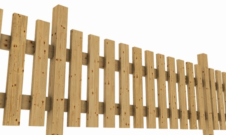 3D wooden fence - free light brown 02