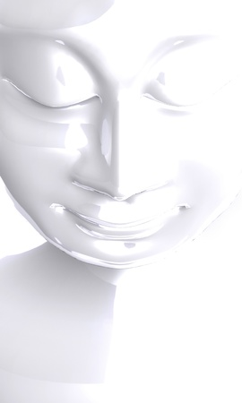 White Buddha Contrast Stock Photo - 14913109