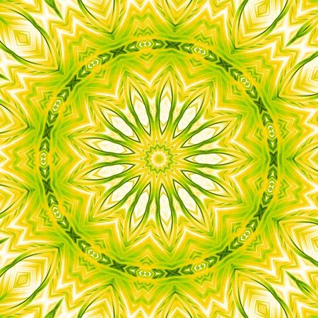 Mandala-Green Yellow Light Stock Photo - 14913365