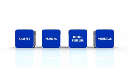 implementation: 3D Designs Blue White - analysis planning implementation control 1