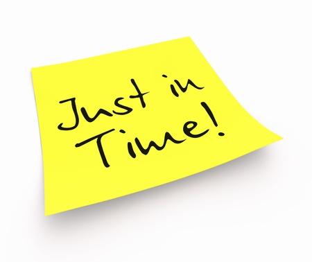 gestion del tiempo: Stickies - Justo a tiempo