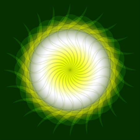 Spring Mandala Green White Stock Photo - 14913720