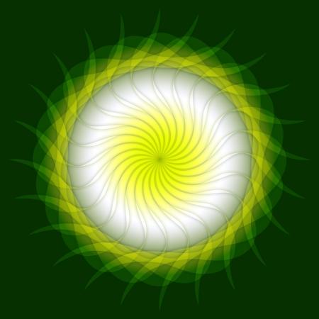 backplate: Spring Mandala Green White