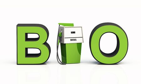 3D-BIO text with gas pump - bio diesel photo