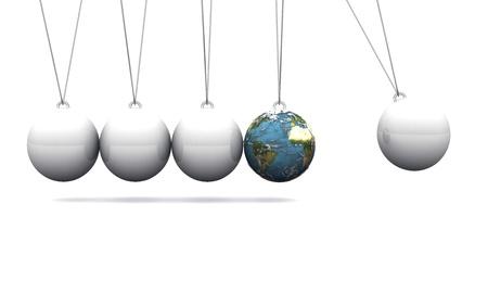 shot put: 3D globe shot put pendulum