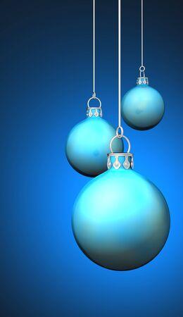Cyan Blue Christmas balls background 09 photo