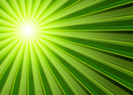 Background - rays Green Black Stock Photo - 14913770