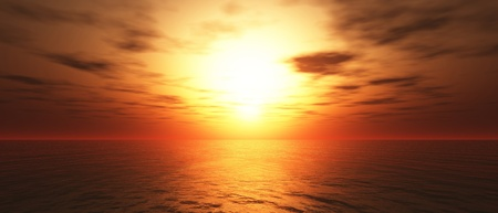 heaven and hell: Hot Sunset background 05