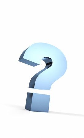 The big question mark blue on white Stock Photo - 14913783