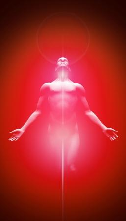 Leichte Transformation Rot Schwarz Standard-Bild