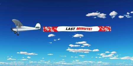 Air Marketing - last minute Stock Photo