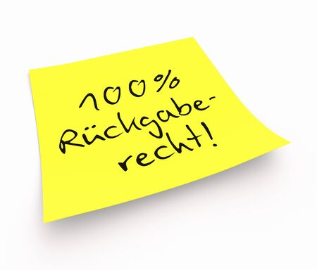 customercare: Stickies - 100 Return Policy