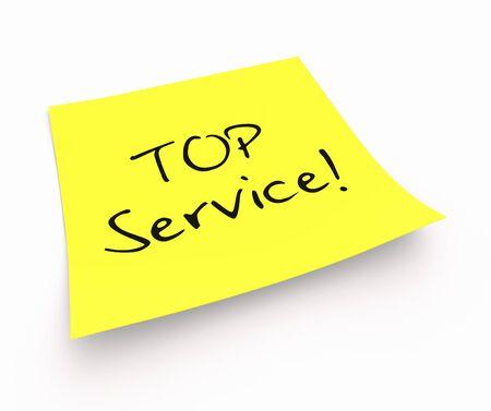 stickies: Stickies - TOP Service Stock Photo