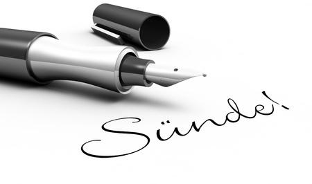 Sin - Pinkonzept Standard-Bild - 15571352
