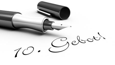 konzept: 10  Gebot  - Stift Konzept