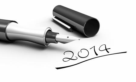 filler: 2014 - Pen Concept Stock Photo
