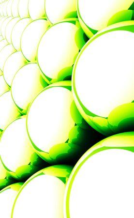 Green reflection balls background 08 Stock Photo - 15630090