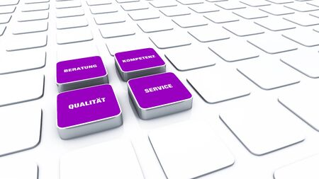 cuboid: Cuboid concept violet - consulting expertise Service Quality 3