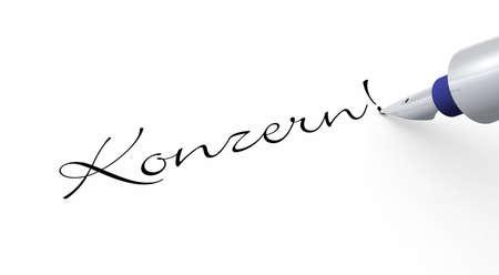 Pen Concept - Konzern Stock Photo - 15630081