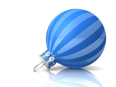 Christmas ball -  Blue Stripe photo