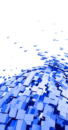 quantity: 3D Background - Blue Cyberspace  Stock Photo