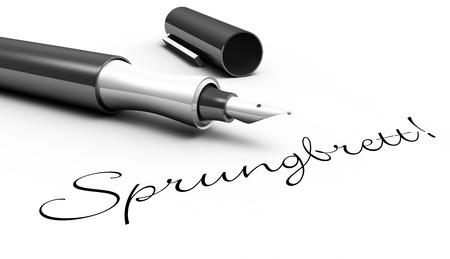 springboard: Trampol�n - concepto de pin Foto de archivo
