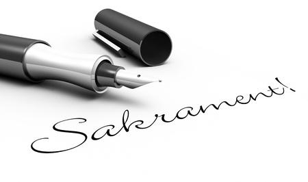 Sacrament - pin concept Stock Photo - 15778651