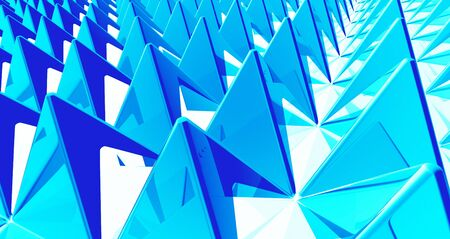 Pyramids background matrix Blue Cyan  photo