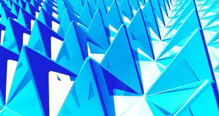 Pyramids background matrix Blue Cyan Stock Photo - 15888291
