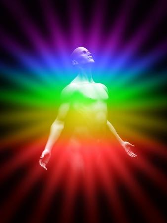 chakras: La transformaci�n hacia la luz Foto de archivo