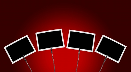 Photo Clip 4x against red background  Stock Photo - 15888138