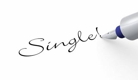 longing: Pen concept - Single Stock Photo