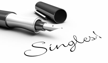 dear: Singles - pin concept Stock Photo