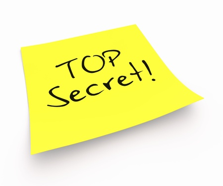 Stickies - Top Secret Stock Photo - 16008508