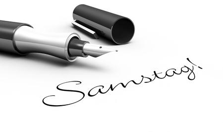 saturday: Saturday - pin concept