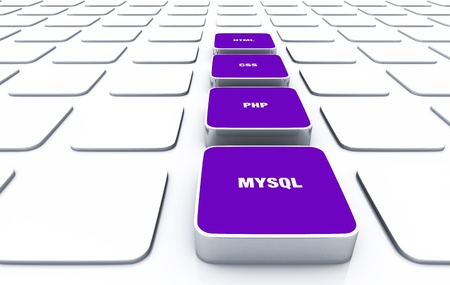 3D pads violet - HTML CSS PHP MYSQL  Stock Photo - 16008530