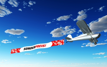 Airplane Banner - Special Price photo