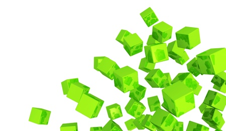 Banners - Flying Dice Green  Stock Photo - 16008547