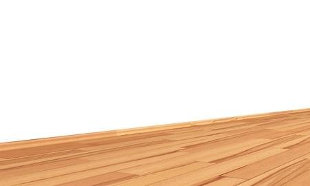 beech: Wall with wooden floor diagonally - beech core