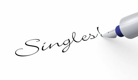 longing: Pen Concept - Singles Stock Photo