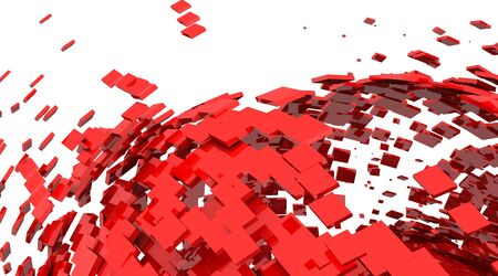 3D Background - Red Cyberspace Stock Photo - 16135550