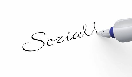 Social - pin concept Stock Photo - 16135289